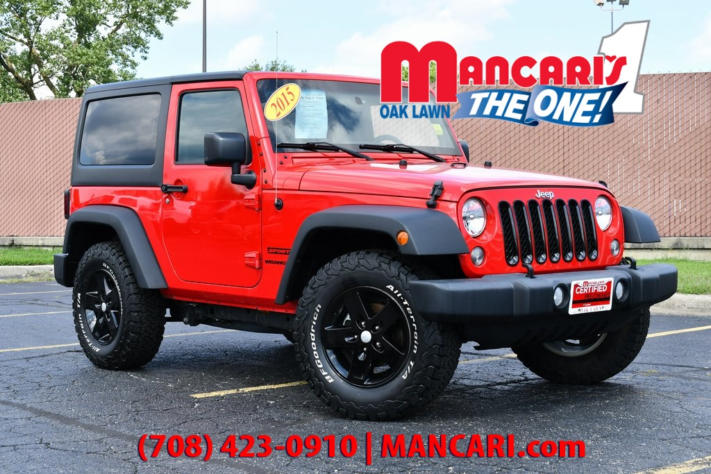 Certified Pre-Owned 2015 Jeep Wrangler Sport - 4X4 ONE OWNER REMOTE KEYLESS ENTRY AUX INP