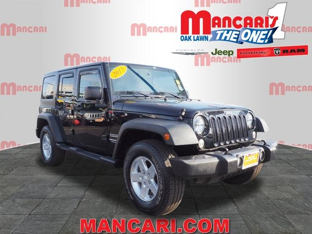 Certified Pre Owned 2015 Jeep Wrangler Unlimited Sport 4d Sport