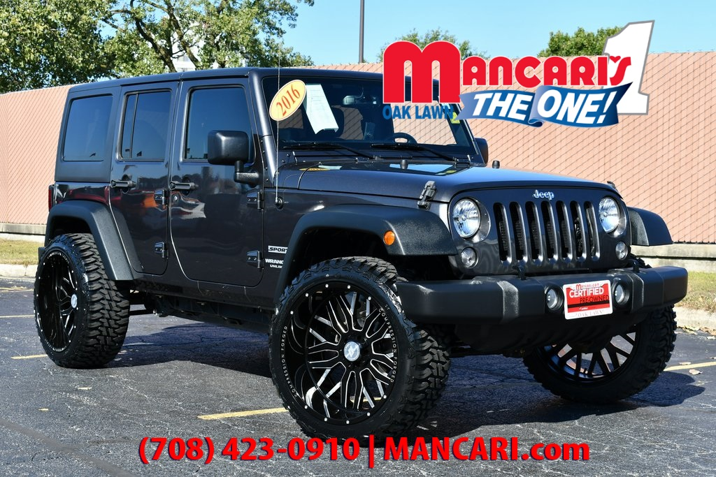 Jeep Wrangler Lift Kits >> Certified Pre Owned 2016 Jeep Wrangler Unlimited Sport Aftermarket Lift Kit Rims Tire 4wd