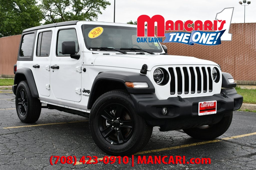 Certified Pre-Owned 2020 Jeep Wrangler Unlimited Sport Altitude - CERTIFIED 4X4 ONE OWNER
