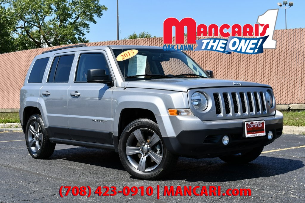 Leather Jeep Seats >> Certified Pre Owned 2015 Jeep Patriot High Altitude One Owner Sunroof Leather Seats Fwd 4d Sport Utility