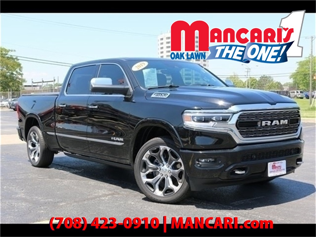 Pre-Owned 2019 Ram 1500 Limited - 4X4 Apple CarPlay Google Android Auto