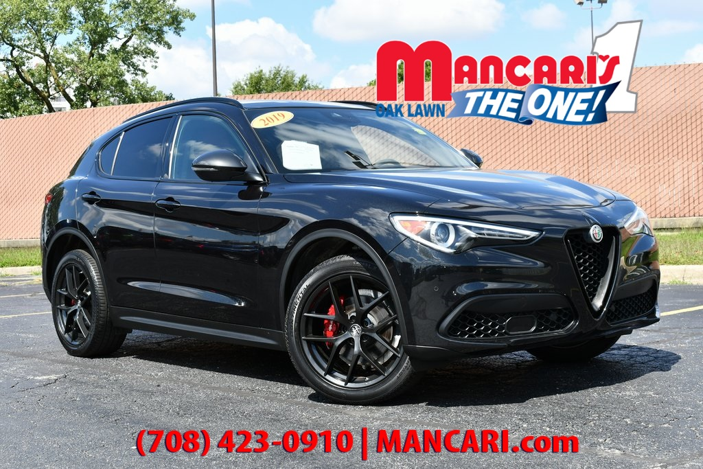 Pre-Owned 2019 Alfa Romeo Stelvio Ti Sport - ONE OWNER NAVIGATION RED LEATHER SEATS